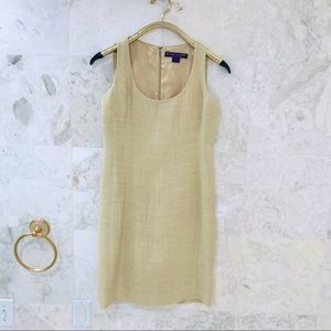 RALPH LAUREN PURPLE LABEL Dress {8} Linen Gold
